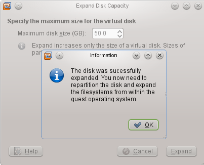disk size 2
