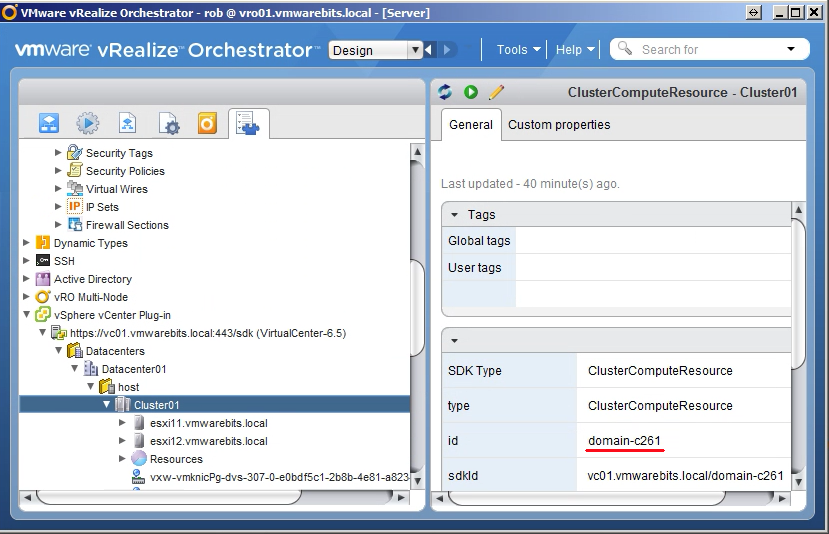 get MODI with vRealize Orchestrator