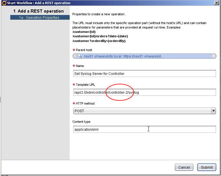 Add Rest Operation to add syslog for NSX Controller