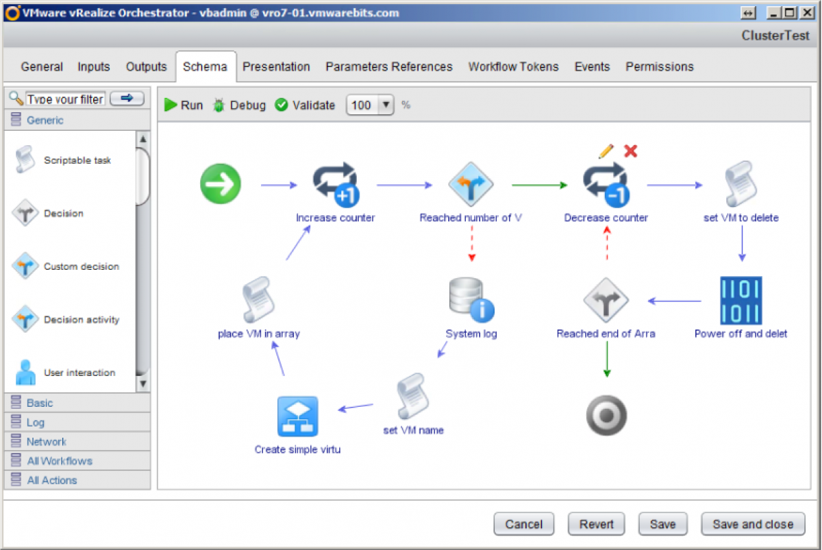 vRealize Cluster Demo workflow