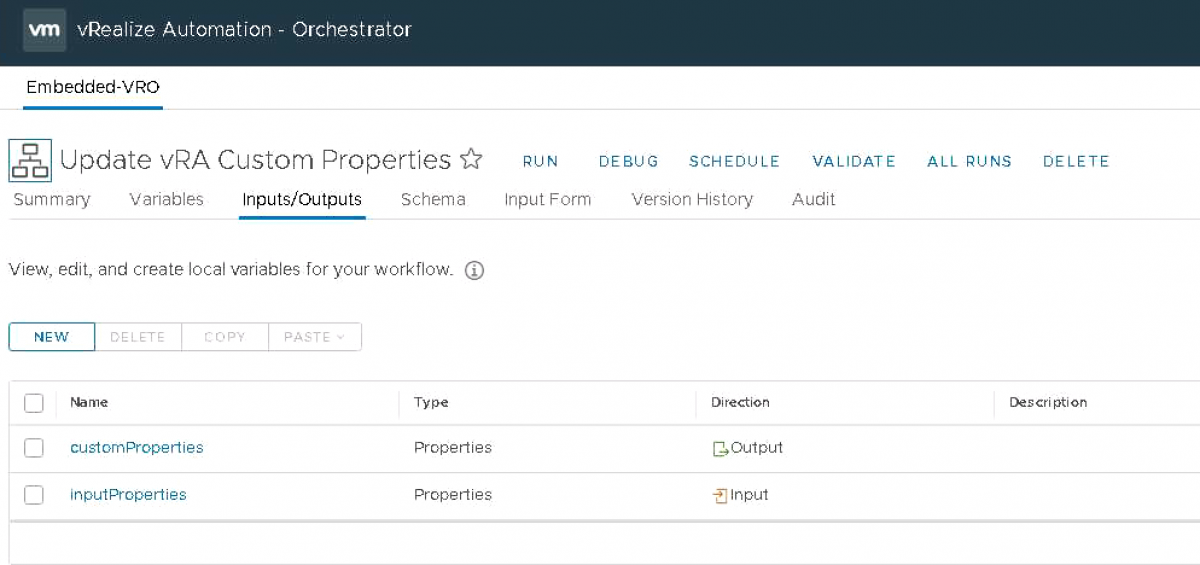 vRealize Automation Update Custom Properties with vRealize Orchestrator