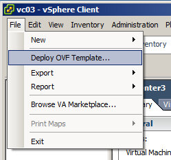 vCloud Appliance deployment